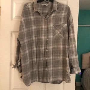 Old Navy gray flannel long sleeve